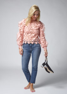 Jeans - Frame High Waisted Jeans Shoes - J.Crew Contrast Glitter Heels in Suede